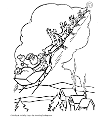rudolph reindeer coloring rudolph leads santa