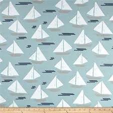 nautical fabric premier prints cape may spa blue home decor