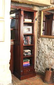narrow bookcase with drawers elegant mahogany tall narrow bookcase hampshire furniture