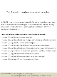 Sample Resume Administrative Coordinator by Stunning Admin Coordinator Resume Images Simple Resume Office