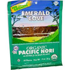 great eastern sun emerald cove organic pacific nori 10 sheets