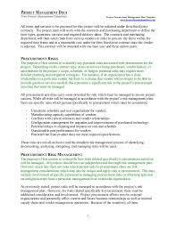 procurement management plan