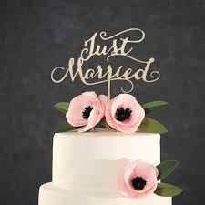 cake topper letters just married rustic wedding cake topper engagement wooden cake