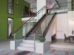 Glass Stair Banister Glass Staircase Design Artistic Stairs