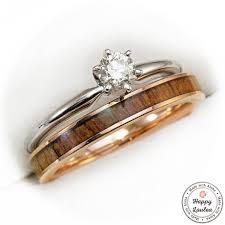 ring set 14k white gold solitaire 25ct diamond engagement ring set