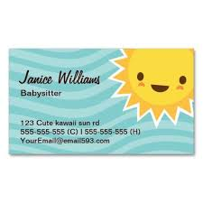 149 best babysitting business cards images on pinterest business