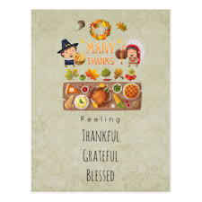 thanksgiving blessings postcards zazzle