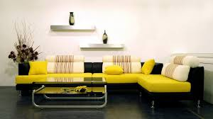 Gray And Yellow Living Room by Living Room Beautiful Interior Design Nice Yellow Matras Nice L