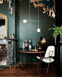 how to use texture u0026 colour color trends dark green walls and