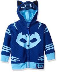 pj masks catboy toddler boy u0027s zip mask hoodie amazon uk