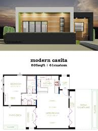 small patio home plans casita plan small modern house plan 61custom contemporary