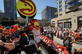 atlanta hawks march in the 47th atlanta pride parade