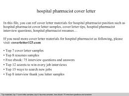 pharmacist cover letter example job application letter for fresh