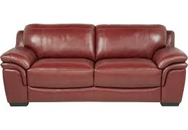 Rooms To Go Sleeper Loveseat Cindy Crawford Home Grand Palazzo Red Leather Sofa Leather Sofas
