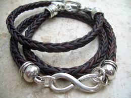 braided leather bracelet mens images Infinity bracelet leather bracelet triple wrap braided leather jpg