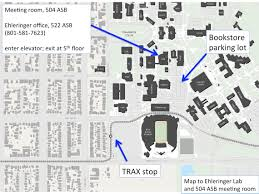 University Of Utah Parking Map by Contact Ehleringer Labuniversity Of Utah