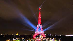 French Flag Eiffel Tower Eiffel Tower 에펠 탑 With Korean Colors 태극기 In Paris