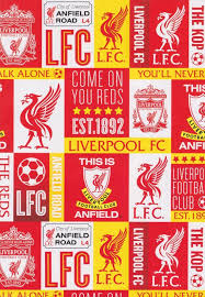 football wrapping paper liverpool football club gift wrapping paper cardspark