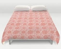 coral bedding etsy