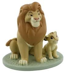 disney king mufasa and simba collectable figurine my is