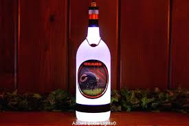 wine bottle table lamp diy football team lamps lights wireless led