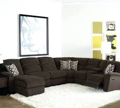 Compact Sectional Sofa by Leather Sectional With Recliner And Sleeper Tracey Recliner