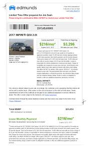 nissan gtr monthly payment 2017 infiniti q50 lease 216 month 3 296 drive off 35 855 msrp
