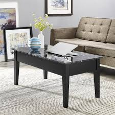 Marble Effect Coffee Tables Prairie Coffee Table White Marble Top Black Legs Modern Uk Data
