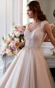 wedding dresses tulle a line wedding gown stella york