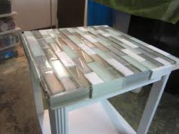 ceramic tile table top to tile a small table top