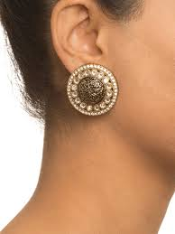 designer stud earrings buy black meena stud earrings by shillpa purii at jivaana