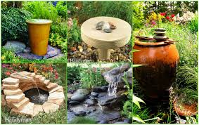 Small Patio Water Feature Ideas by How To Make A Small Fountain Outstanding Water Backyard Home