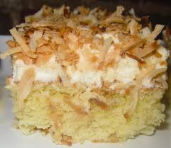 haute heirloom coconut tres leches cake with coconut whipped