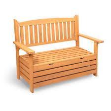 Garden Storage Bench Wooden Wooden Slat Storage Bench Outdoor Indoor Garden Timber Seat 2
