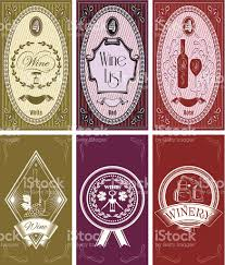 set of templates for business cards menus for wine stock vector