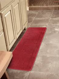 Solid Color Rug Red Runner Rug Softy Collection Red Color Solid Mat Rug Plain Soft