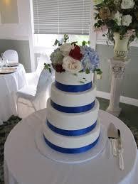 wedding cake royal blue royal blue ribbon wedding cake cakecentral