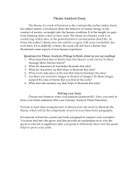 Examples Of Literary Criticism Essays Theme Analysis Essay Requirements