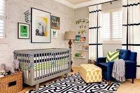 White Rug Nursery Black And White Curtains Contemporary Nursery J And J Design