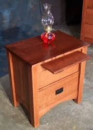 Mission Style Nightstand Custom Made 2 Drawer Quartersawn Oak Mission Style Night Stand By