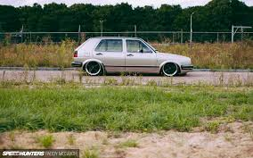 old hatchback porsche so fresh so clean a porsche inspired mk2 golf speedhunters