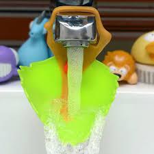 kitchen faucet extender aliexpress buy silicone design faucet chute lemon leaf