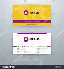 modern simple business card template vector stock vector 220383637