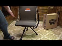 Ground Blind Reviews Millennium Tree Stands G100 Ground Blind Chair Youtube