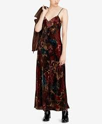 polo ralph lauren floral print velvet maxi dress dresses women