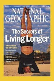 national geographic back issue signed by dan buettner blue zones