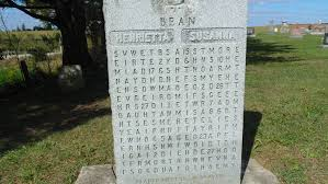 grave tombstone bean puzzle tombstone wellesley ontario atlas obscura