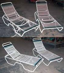 Restrapping Patio Chairs Restoration Repair Outdoor Furniture Patio Chair Fabric Replacement