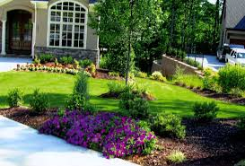 bedroom awesome designed rock garden and flower bed border idea