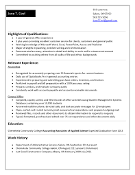 Job Resume Accounting by My College Resume Resume For Your Job Application